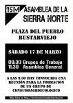 XI Asamblea Sierra Norte, sábado 17 de Marzo en Bustarviejo